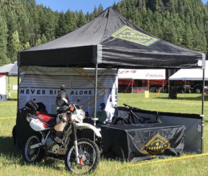 Evergreen Motorcycle Attorneys booth